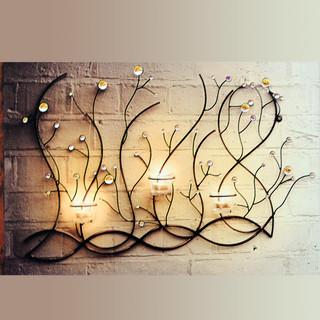 欧式铁艺树枝型烛台